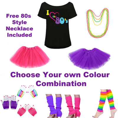 80s Fancy Dress Outfit with I Love the 80s Top