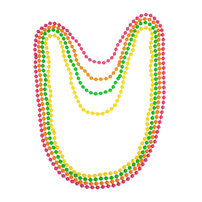 80s Costume Jewelry, Necklace, Bracelet & Earrings in Neon Colours
