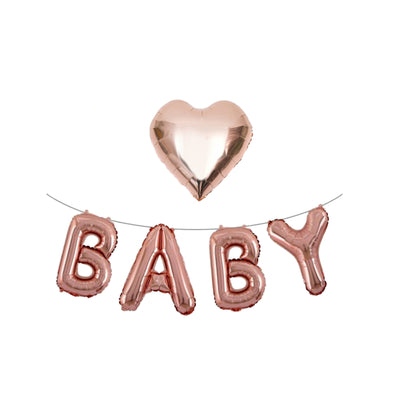 Rose Gold Baby Balloons, Baby Shower decorations