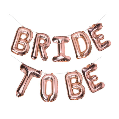 Bride to be Balloons Banner, Rose Gold Bridal Shower Decorations