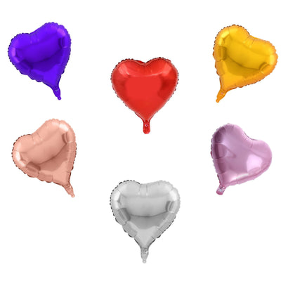 Love Balloon & Heart - Rose Gold, Gold, Pink, Red, Silver