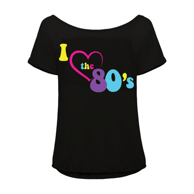 80s Fancy Dress Outfit for Women, T Shirt and Leggings
