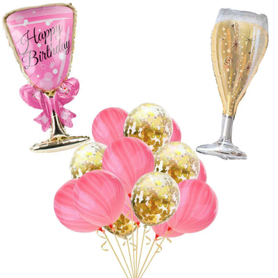 Pink and Gold Birthday Party Decorations
