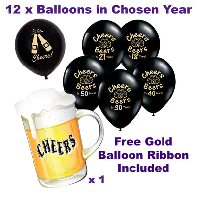 18th, 21st, 30th, 40th, 50th Birthday Decorations, Anniversary Balloons