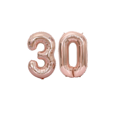 Giant Rose Gold Birthday Decorations or Anniversary Balloons - 21st 18th 30th 40th 50th