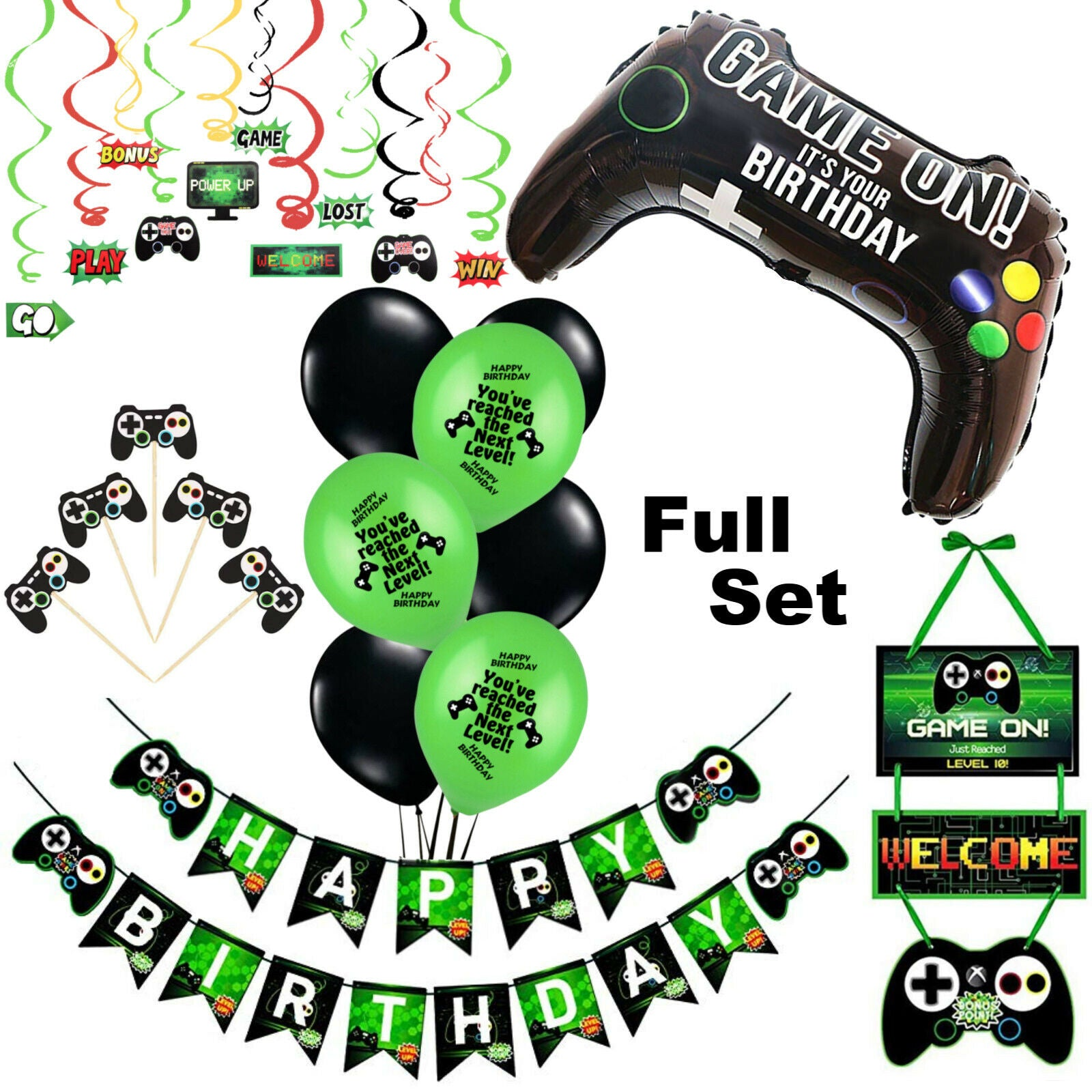 Gaming Party Supplies - Boys Birthday Decorations