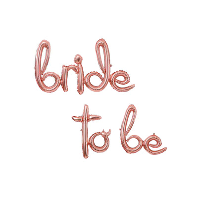 Bride to Be Balloons - Rose Gold Bridal Shower Decorations