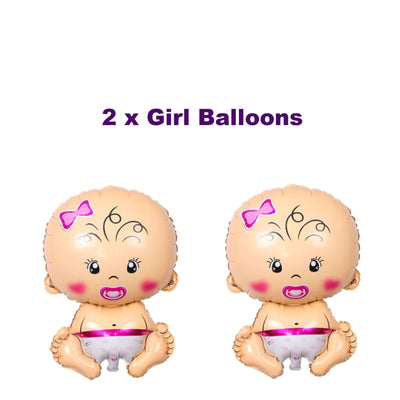 Twins Balloons, Twins Baby Shower Decorations
