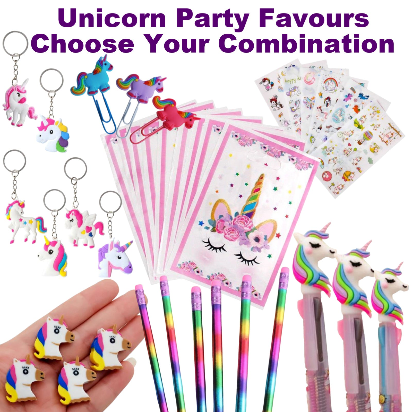 Unicorn Party Favours, Girls Birthday Party Favors