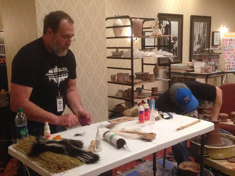 Troy Bungart demonstrates brushmaking NCECA 2019