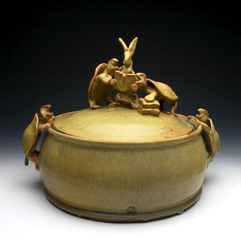 Rabbit Reading covered casserole Troy Bungart
