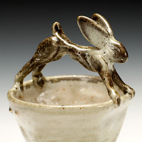 Troy Bungart rabbit bowl with carbon trapping