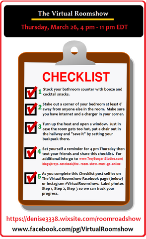 Checklist to get ready for The Virtual Roomshow 2020