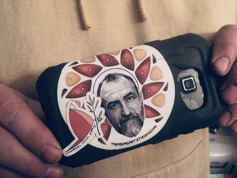 Troy Bungart sticker on camera case