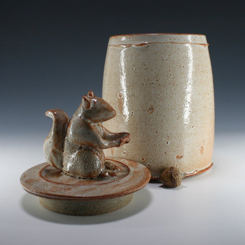 Squirrel lidded jar, Troy Bungart, 2020 Michiana Pottery Tour