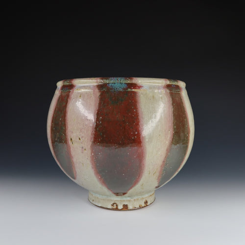 Large Reduction Fired Centerpiece Bowl A033