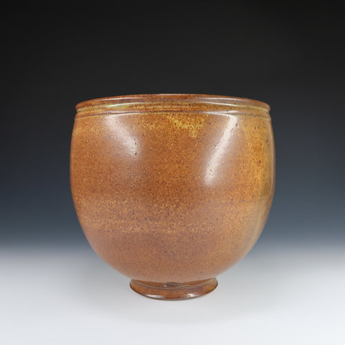 Large Reduction Fired Centerpiece Bowl A034