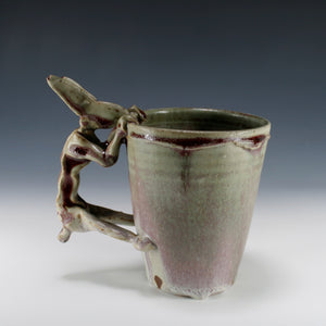 Peach Blossom Rabbit Coffee Mug #3