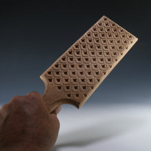 3-D Scale Pattern Paddle