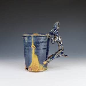 Yellow And Blue Rabbit Mug A038
