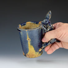 Load image into Gallery viewer, Yellow And Blue Rabbit Mug A038