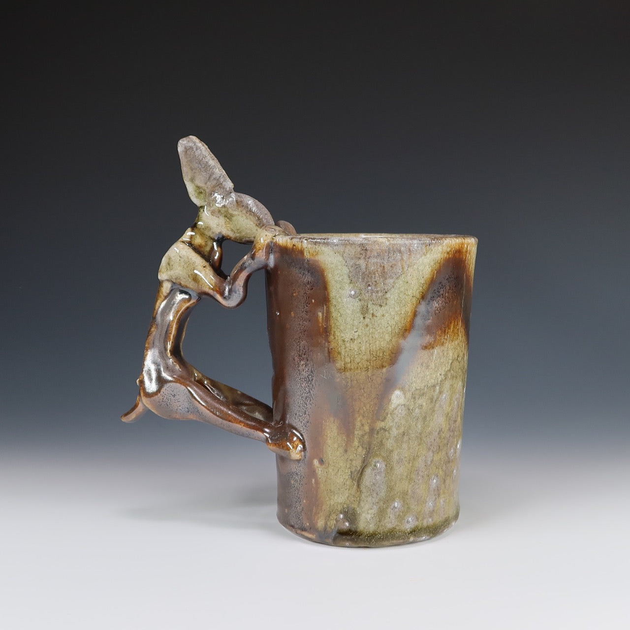 Wood Fired Rabbit Mug A041