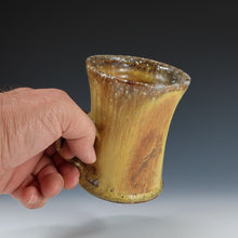 Load image into Gallery viewer, Yellow Wood Fired Mug A048