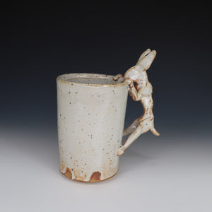 White Shino Rabbit Mug, A060