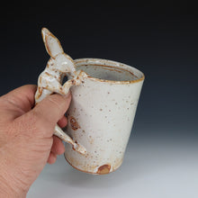 Load image into Gallery viewer, White Shino Rabbit Mug, A060