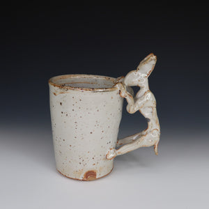 White Shino Rabbit Mug, A062
