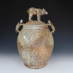 Bear With Turtles Jar, A063