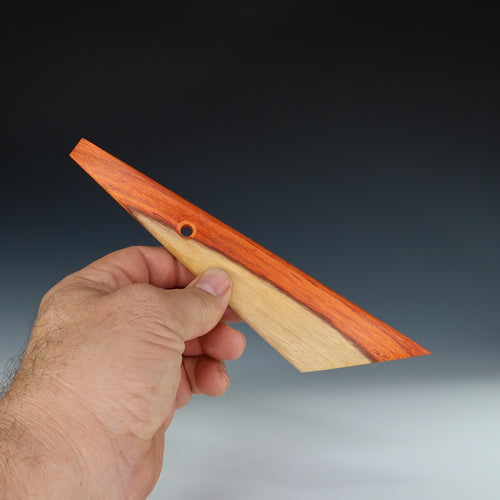Extra Wide Padauk Trim Knife with chisel tip