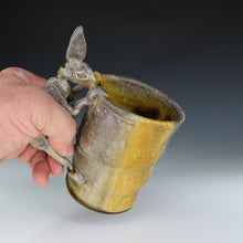 Load image into Gallery viewer, Wood Fired Yellow Rabbit Coffee Mug