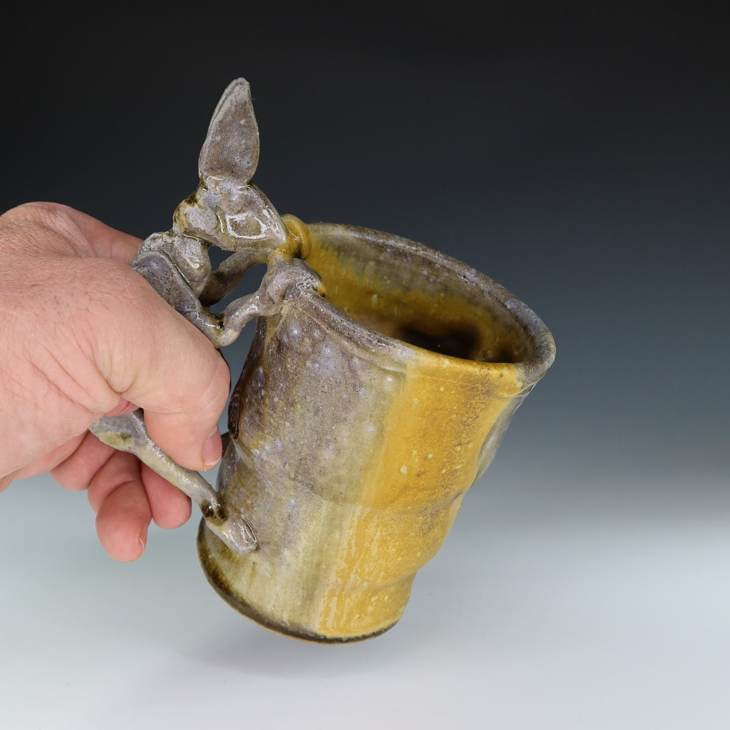 Wood Fired Yellow Rabbit Coffee Mug