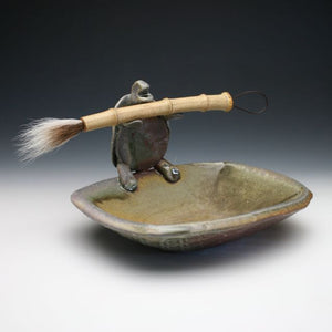 Turtle tray, tortoise brush rest, noodle bowl with chopstick rest