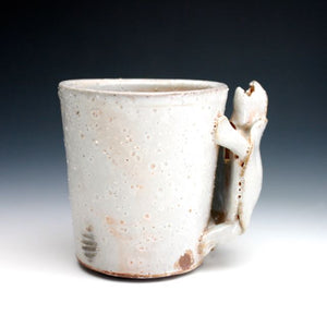 Soda Fired Shino Turtle Coffee Mug 015