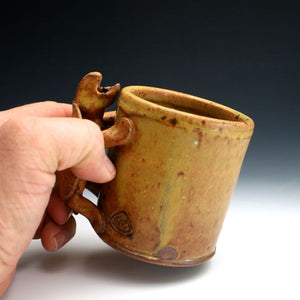 Soda Fired Shino Turtle Coffee Mug 016