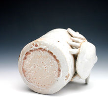 Load image into Gallery viewer, Soda Fired White Shino Crab Coffee Mug 017