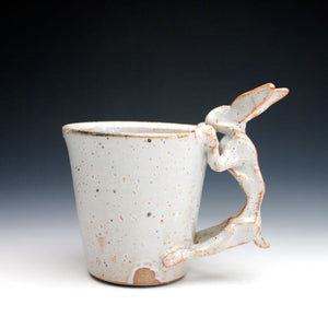 White Shino Rabbit Coffee Mug 019