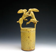 Load image into Gallery viewer, Yellow Rabbit Bud Vase 025
