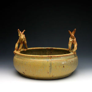 Yellow Rabbit Serving Dish Salad Bowl 028