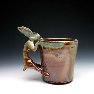 Wood Fired Shino Rabbit Coffee Mug 039