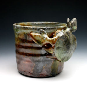 Wood Fired Shino Crab Coffee Mug 040