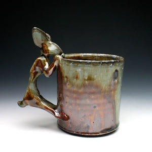 Wood Fired Shino Rabbit Coffee Mug 041