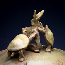 Load image into Gallery viewer, Yellow Rabbit Reading To Young Turtles Jar 051