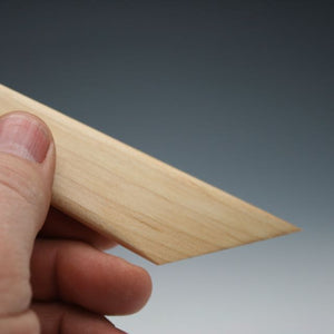 Hard Maple Trim tool with thumb tip