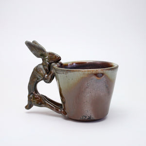 Fired Shino Rabbit Coffee Mug A016