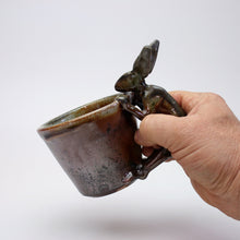 Load image into Gallery viewer, Fired Shino Rabbit Coffee Mug A016