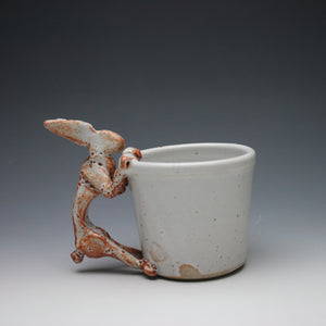 White Shino Rabbit Coffee Mug A01