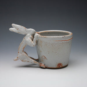 White Shino Rabbit Coffee Mug A03